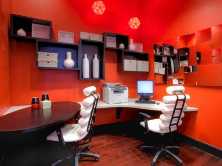 Business center at Alterra at Grossmont Trolley Apartments in La Mesa, CA