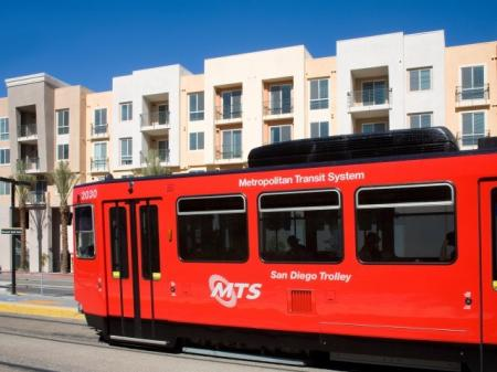 Grossmont Trolley Station at Alterra at Grossmont Trolley Apartments in La Mesa CA