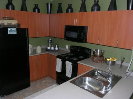 Kitchen at Pravada at Grossmont Trolley Apartments in La Mesa CA