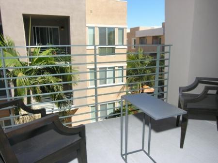 Patio at Pravada at Grossmont Trolley Apartments in La Mesa CA