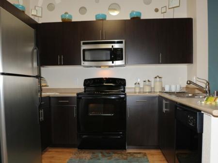 Kitchen at Alterra at Grossmont Trolley Apartments in La Mesa CA