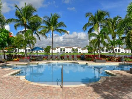Swimming pool near the water at Doral West Apartment Homes in Doral, FL