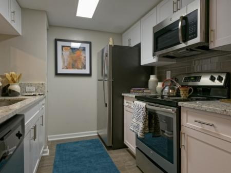 Upgraded kitchens at Doral West Apartment Homes in Doral, FL