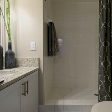 Remodeled Bathroom at Doral West Apartment Homes in Doral, FL