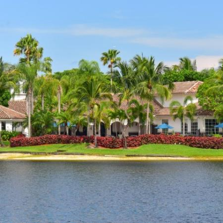 Enjoy living on the lake at Doral West Apartments