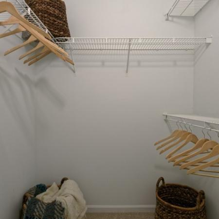 Spacious Walk in Closets at Doral West Apartments