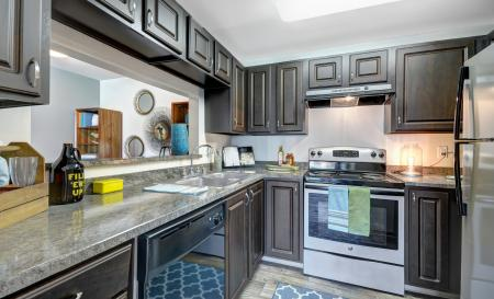 Kitchen at Beacon at Center Apartments in Everett WA