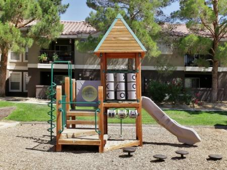 Playground tot lot at Reflections at the Lakes Apartments in Las Vegas, NV