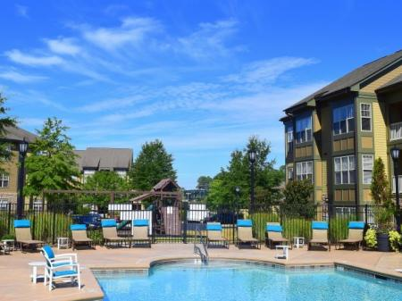 Pool at Southpoint Village Apartments in Durham, NC