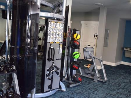 Fitness center at Southpoint Village Apartments in Durham, NC