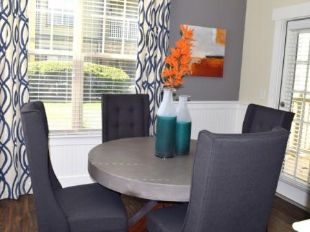 Dining room at Southpoint Village Apartments in Durham, NC