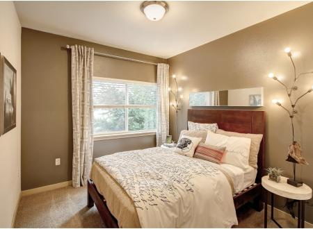 Second bedroom at Newberry Square Apartments in Lynwood, WA
