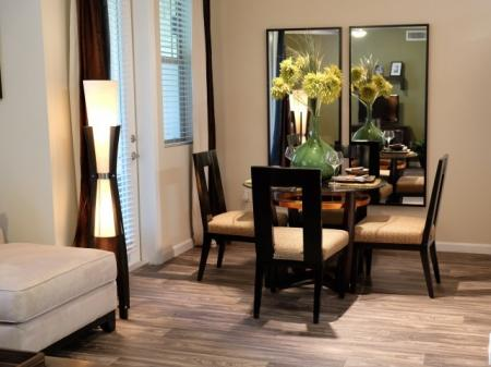 Dining area at Dakota Apartments in Winchester CA