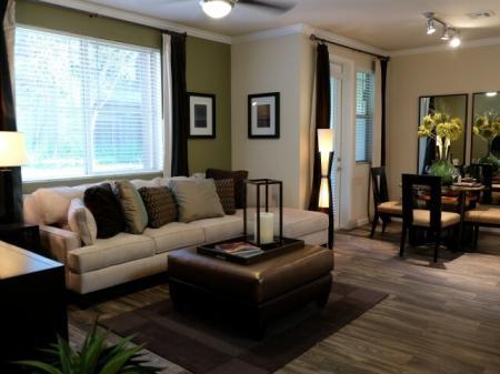 Living room at Dakota Apartments in Winchester CA