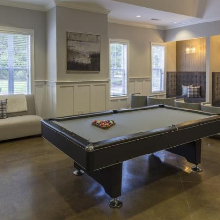 Billiards room Park at Crossroads Apartments in Cary, NC