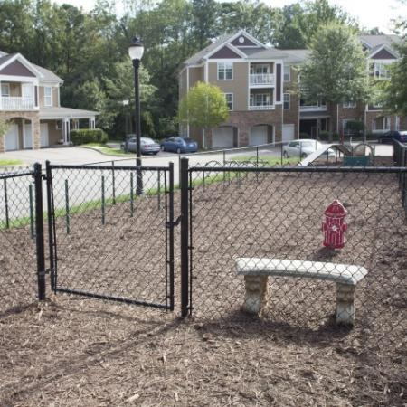 Pet park Park at Crossroads Apartments in Cary, NC