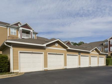 Detached garages Park at Crossroads Apartments in Cary, NC