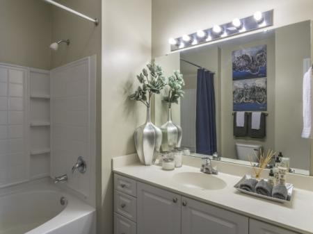 Bathroom Park at Crossroads Apartments in Cary, NC