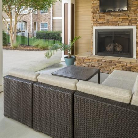 Outdoor TV and Fireplace