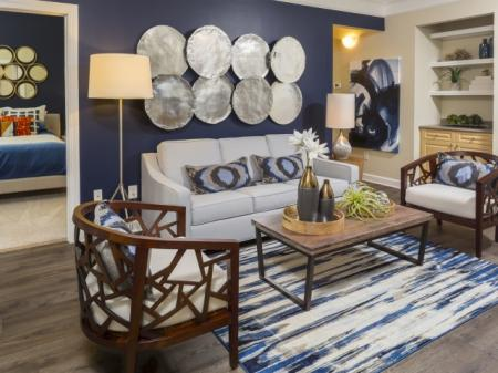 Living room Park at Crossroads Apartments in Cary, NC