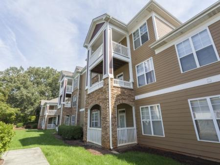 Green spaces Park at Crossroads Apartments in Cary, NC
