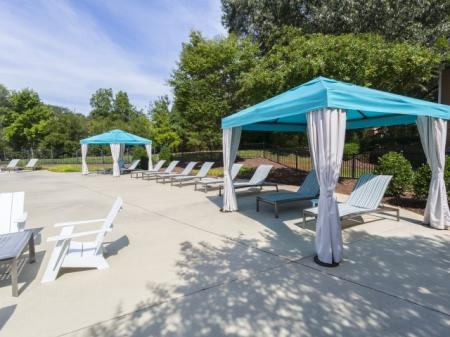 Relaxing pool Park at Crossroads Apartments in Cary, NC