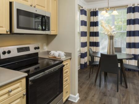 Kitchen shot Park at Crossroads Apartments in Cary, NC