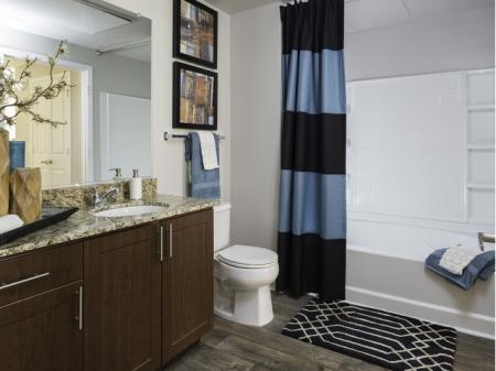 Bathroom at Talavera Apartments in Denver,CO
