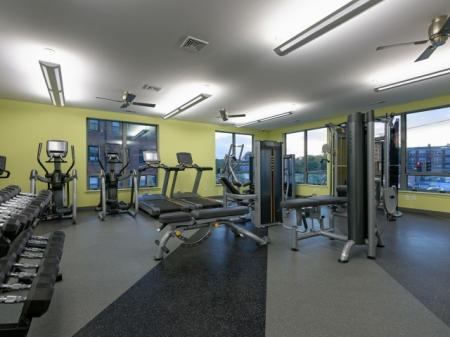 Fitness center 7001 Arlington at Bethesda Apartments in Bethesda, MD