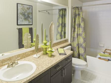 Brand new bathroom at Marela apartments in Pembroke Pines, Florida