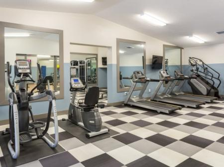 Fitness center at Marela apartments in Pembroke Pines, Florida
