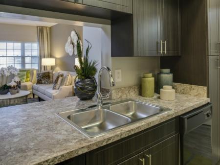 Custom kitchens at Marela apartments in Pembroke Pines, Florida