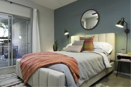 Master bedroom at Cambria Apartments in Gilbert AZ