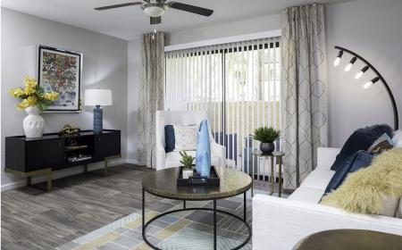 Living room at Lore South Mountain Apartments in Phoenix AZ