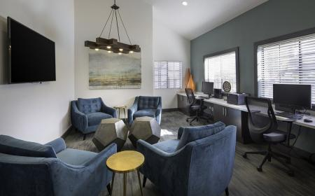 Business center at Lore South Mountain Apartments in Phoenix AZ