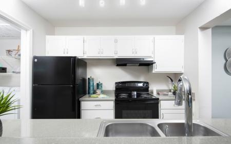 Kitchen at Array South Mountain Apartments in Phoenix AZ
