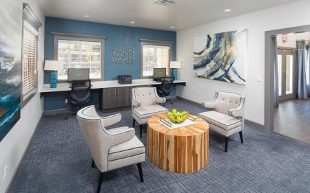 Business center at Array South Mountain Apartments in Phoenix AZ
