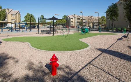 Dog park at Array South Mountain Apartments in Phoenix AZ