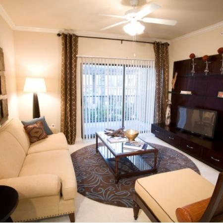 Living space at Lakeland Estates Apartment Homes in Stafford, TX