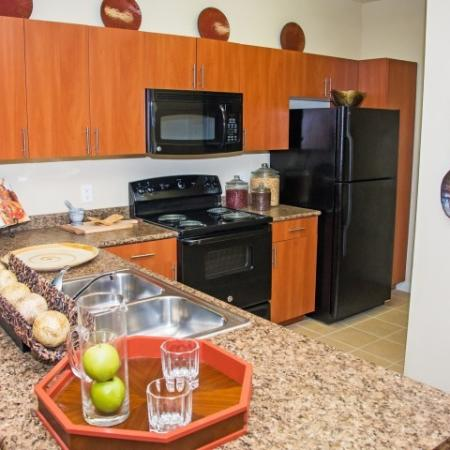 Kitchen at Lakeland Estates Apartment Homes in Stafford, TX