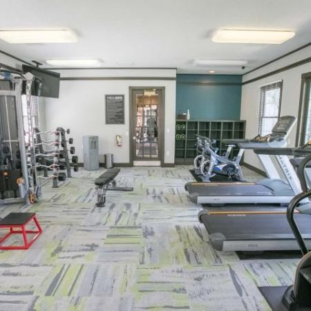 Brand new state-of-the-art fitness equipment at The Village at Avon Apartments in Avon, OH