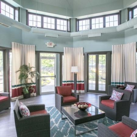 Event clubhouse available for resident events at The Village at Avon Apartments in Avon, OH