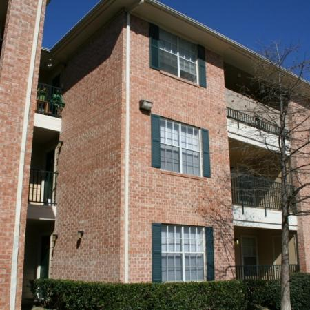 Private balconies at Valley Ridge Apartment Homes in Lewisville, TX
