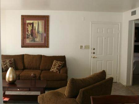 Living room at Valley Ridge Apartment Homes in Lewisville, TX