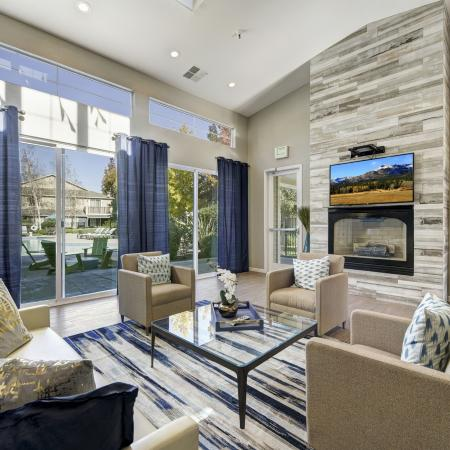 Resident lounge at Atwood Apartments in Citrus Heights CA