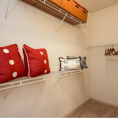 Spacious closets at 17 Barkley Apartments in Gaithersburg, MD