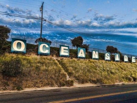 Oceanside Sign near Skye Apartments in Vista, CA