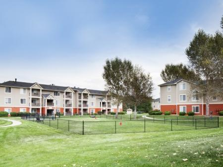 Dog park at Ardenne Apartments in Lafayette, CO
