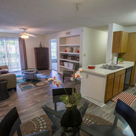 Open living spaces at Residence at White River in Indianapolis, IN