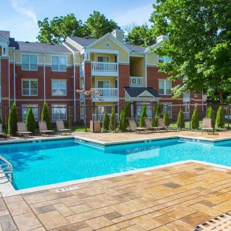 Swimming pool at Residence at White River Apartments in Indianapolis, IN